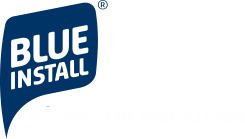 logo for blue install